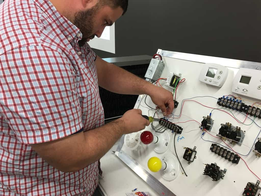 Technician development at HVAC training school